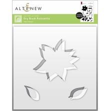 Altenew Stencil 6X6 - Dry Brush Poinsettia