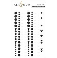 Altenew Enamel Dots 153/Pkg - Black & White