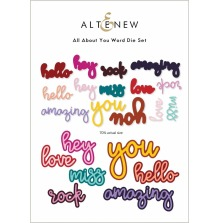 Altenew Die Set - All About You Word