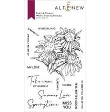 Altenew Paint A Flower - White Swan Echinacea Outline