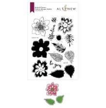Altenew Clear Stamp And Die Build A flower - Fashion Monger Dahlia