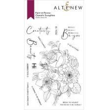 Altenew Paint A Flower - Clematis Josephine Outline
