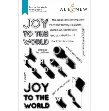 Altenew Clear Stamps 6X8 - Joy to the World Typography