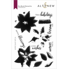 Altenew Clear Stamps 6X8 - Dry Brush Poinsettia