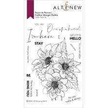 Altenew Paint A Flower - Fashion Monger Dahlia Outline