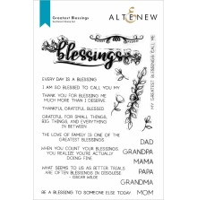 Altenew Clear Stamps 6X8 - Greatest Blessings