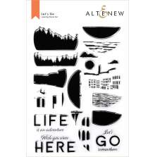 Altenew Clear Stamps 6X8 - Lets Go