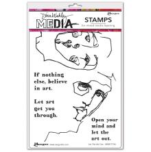 Dina Wakley Media Cling Stamps 6X9 - Let The Art Out