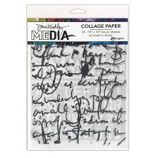 Dina Wakley Media Tissue Pack 7.5X10 20/Pkg - Text Collage
