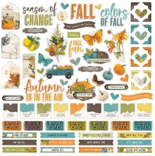 Simple Stories Sticker Sheet 12X12 - SV Country Harvest
