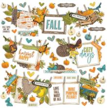 Simple Stories Sticker Sheet 12X12 - SV Country Harvest Banner