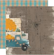 Simple Stories SV Country Harvest Cardstock 12X12 - Happy Harvest