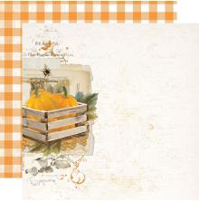 Simple Stories SV Country Harvest Cardstock 12X12 - Just Thankful