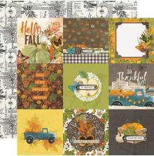 Simple Stories SV Country Harvest Cardstock 12X12 - 4X4 Elements