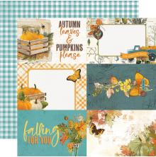 Simple Stories SV Country Harvest Cardstock 12X12 - 4X6 Elements