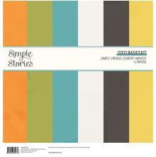 Simple Stories Basics Paper Pack 12X12 6/Pkg - SV Country Harvest