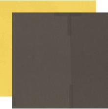 Simple Stories SV Country Harvest Basics Cardstock 12X12 - Mocha/Sunflower