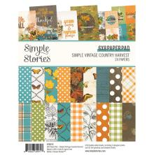 Simple Stories Double-Sided Paper Pad 6X8 - SV Country Harvest