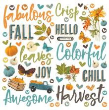 Simple Stories Foam Stickers 63/Pkg - SV Country Harvest