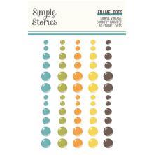 Simple Stories Enamel Dots 60/Pkg - SV Country Harvest
