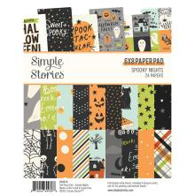 Simple Stories Double-Sided Paper Pad 6X8 - Spooky Nights
