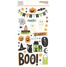 Simple Stories Chipboard Stickers 6X12 - Spooky Nights