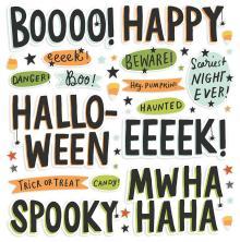 Simple Stories Foam Stickers 40/Pkg - Spooky Nights