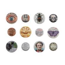 Tim Holtz Idea-Ology Mini Flair Buttons 12/Pkg - Halloween 2021