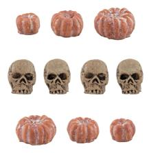 Tim Holtz Idea-Ology Mini Skulls & Pumpkins 10/Pkg - Halloween 2021
