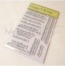hÄnglar & Wings Clear Stamps - Affirmationer Jag
