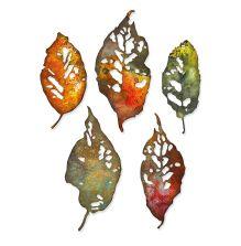 Tim Holtz Sizzix Thinlits Dies - Leaf Fragments