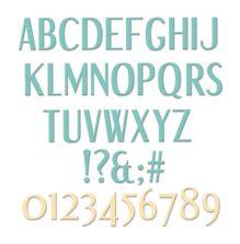 Sizzix Thinlits Die Set - Stylized Alphabet