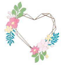 Sizzix Thinlits Die Set - Floral Geo Heart Frame
