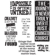 Tim Holtz Cling Stamps 7X8.5 - Words For Thought