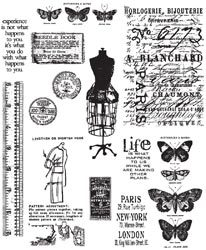 Tim Holtz Cling Stamps 7X8.5 - Attic Treasures