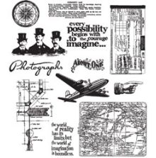 Tim Holtz Cling Stamps 7X8.5 - Warehouse District