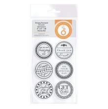 Tonic Studios Simply Stamped Stamp Set - Circular Sentiment  4367E