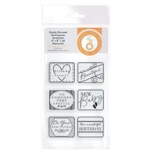 Tonic Studios Simply Stamped Stamp Set - Rectangular Sentiment  4368E
