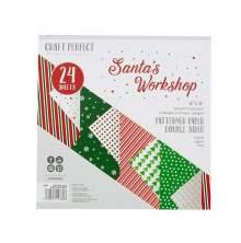 Tonic Studios Craft Perfect 6X6 Card Pack - Santas Workshop 9384E
