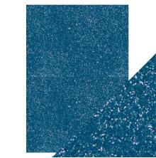Tonic Studios Craft Perfect A4 Glitter Card - Cobalt Blue 9953E