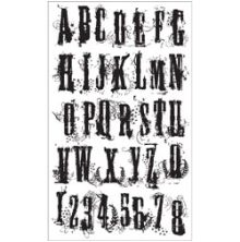 Tim Holtz Cling Stamps 7X8.5 - Grunge Alphabet
