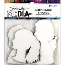 Dina Wakley Media Chipboard Shapes - Profiles