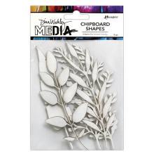 Dina Wakley Media Chipboard Shapes - Sprigs