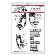 Dina Wakley Media Cling Stamps 6X9 - Greatest Asset