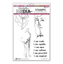 Dina Wakley Media Cling Stamps 6X9 - I Am