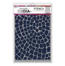 Dina Wakley Media Stencils 9X6 - Mosaic Circle