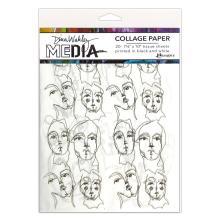 Dina Wakley Media Tissue Pack 7.5X10 20/Pkg - Church Doodles