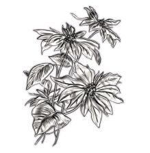 Tim Holtz Sizzix 3D Impresslits Embossing Folder - Mini Poinsettia