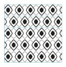Simon Hurley create. Background Stamp 6X6 - Funky Argyle