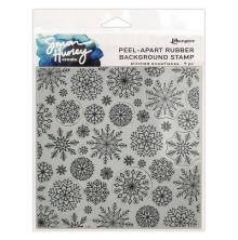 Simon Hurley create. Background Stamp 6X6 - Stitched Snowflakes